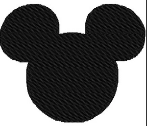 Embroidery Add On:  All Black Classic Mickey Head