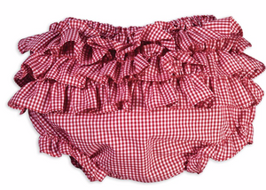 Red Gingham Ruffle Bottom Bloomer