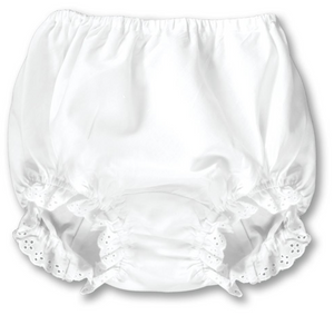 White Bloomer with Eyelet Lace