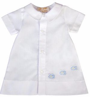 Shadow Embroidered Airplane Daygown