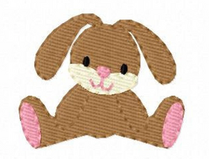 "Embroidery Add On: 2x1.5"" Joyful Little Bunny"