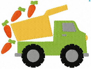 "Embroidery Add On: 4x3"" Carrot Dump Truck"