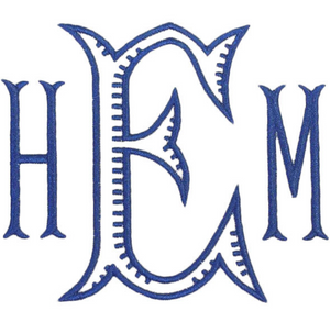 Font: Baroque Fishtail Combo Monogram
