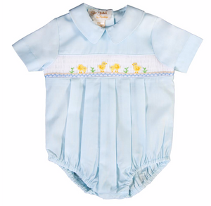 Smocked Chicks Blue Boy Bubble