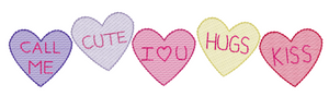 "Embroidery Add On: 3"" Conversation Hearts"