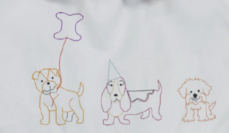 Embroidery Add on: Puppy Parade