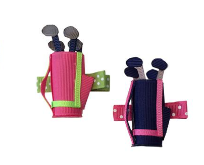 Golf Bag Alligator Clip Bow