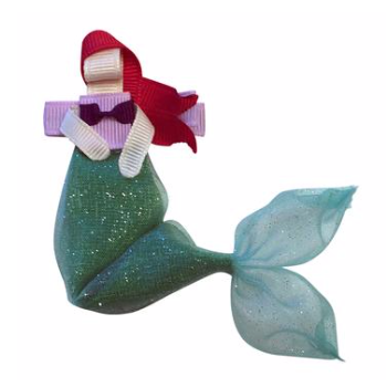 Mermaid Princess 5 Alligator Clip Bow