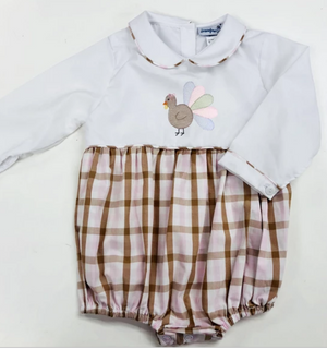 Pink and Brown Plaid Bubble