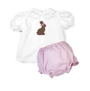 Add On: Choc Bunny with Pink Bow Embroidery