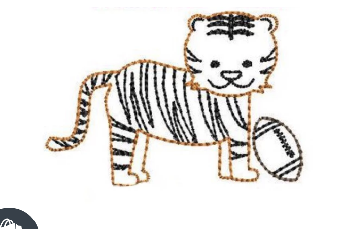 Embroidery Add On: Baby Full Body Tiger