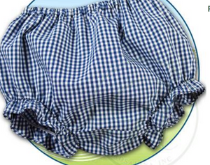 Royal Blue Gingham Ruffle Leg Bloomer