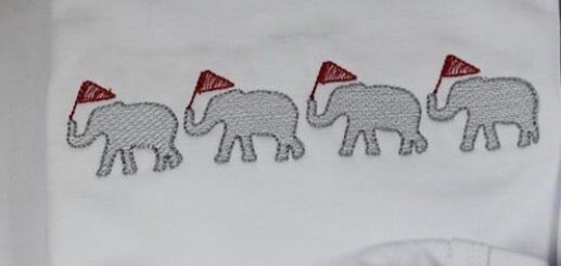 Embroidery Add On: Elephant parade