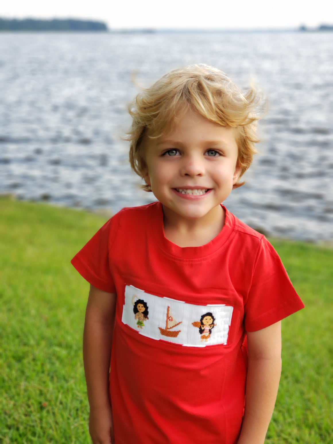 Moana Inspired Smocked BOY Tee