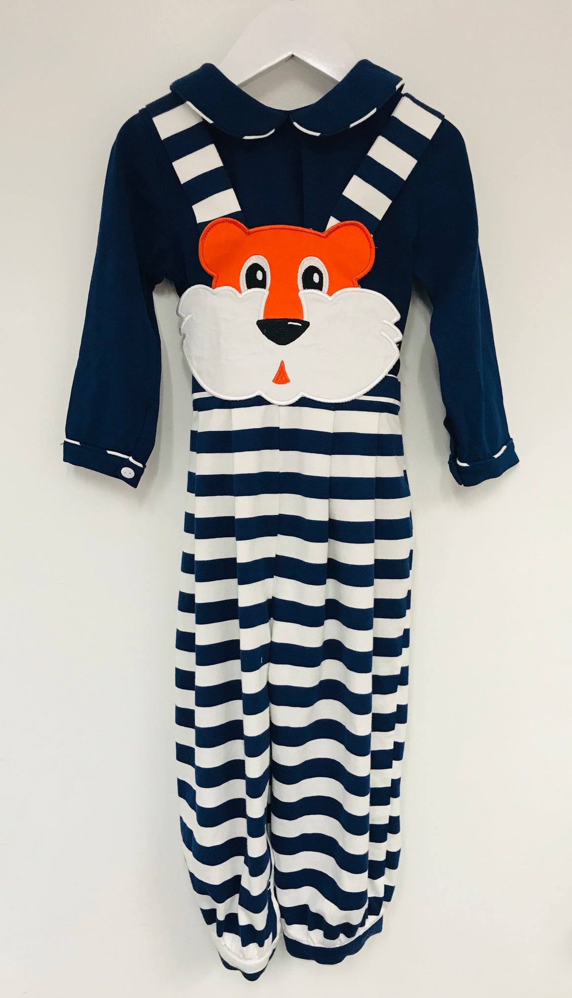 Tiger Knit Stripe BOY Romper and shirt