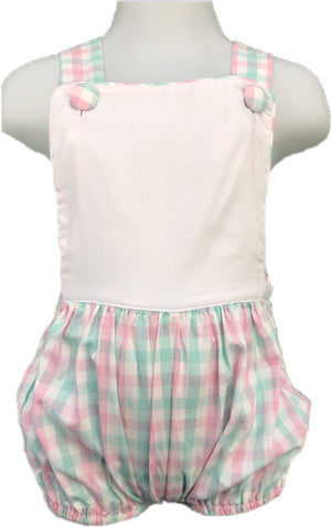 Mint & Pink Plaid Sunsuit