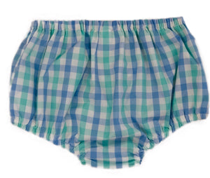 Mint and Blue Plaid Bloomers ONLY