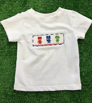 Character: PJ Mask Inspired BOY Smocked Tee