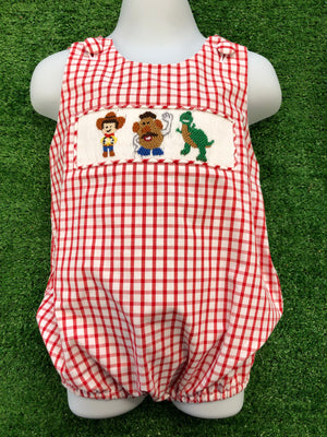 Toy Story Inspired Smocked Bubble
