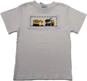 Smocked Construction Tee