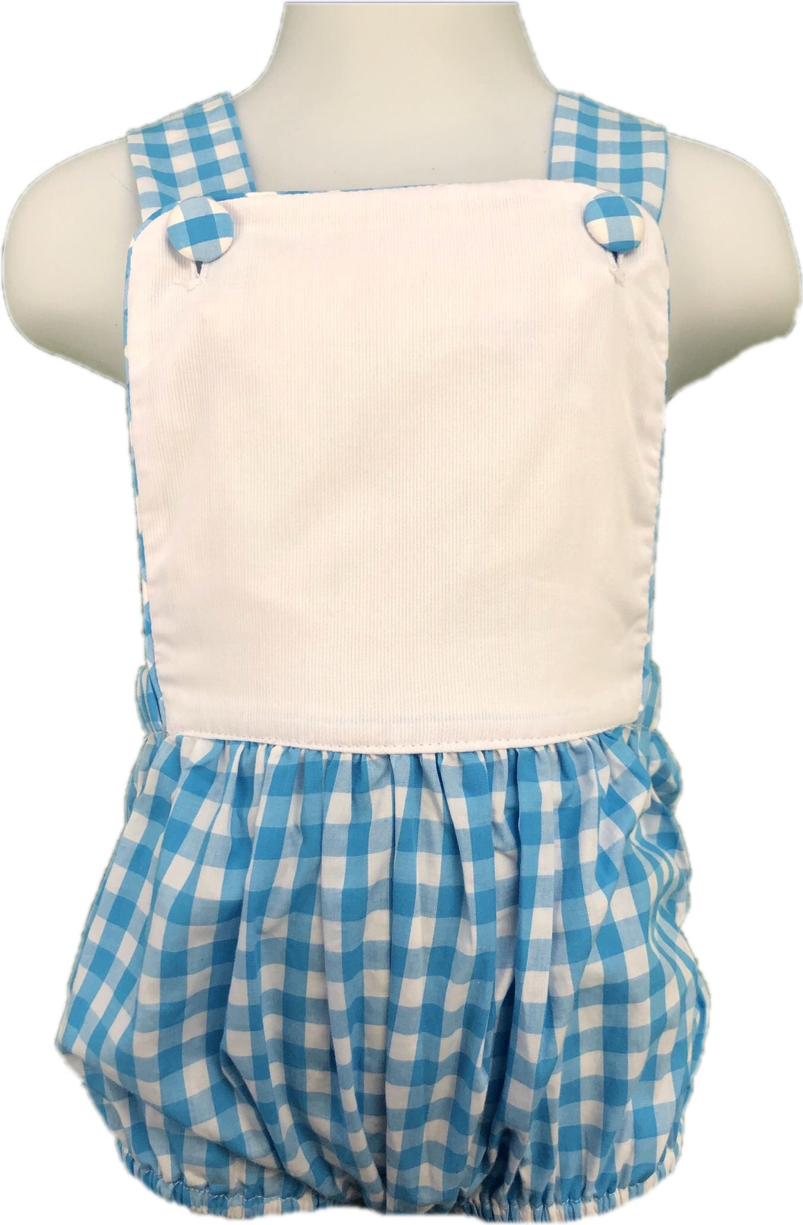 Sunsuit: Turquoise Gingham Blank