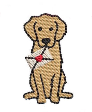 Embroidery Add On: Valentine Delivery Puppy