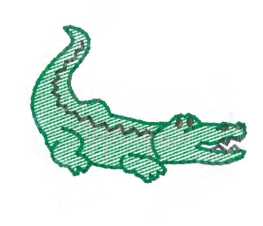 Embroidery Add On: alligator
