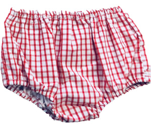 Red Windowpane Unisex Bloomer