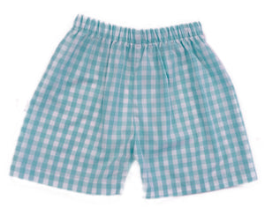Mint Check Shorts ONLY