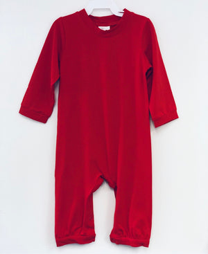 Red Romper with Banded Leg