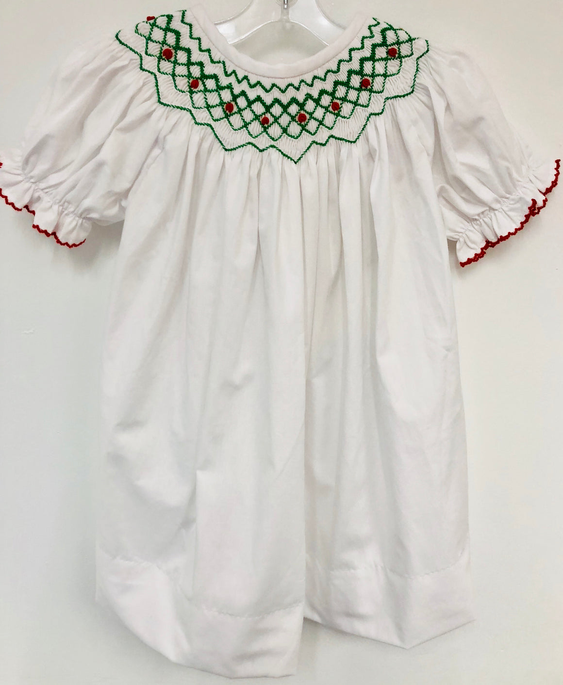 White Smocked Christmas Dress