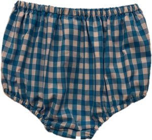 Turquoise Check Unisex Bloomer