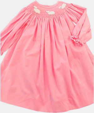 Smocked Lamb Hot Pink Pique Dress