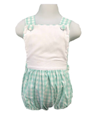 Mint Check Sunsuit
