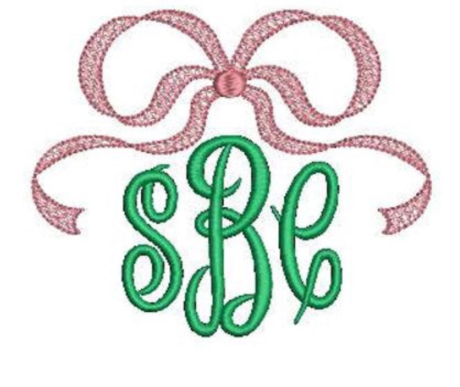 Add On: Pink Bow Monogram