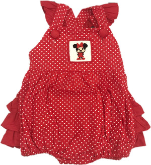 Mouse Smocked Polkadot Sunsuit