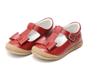 Dark Red Bow Mary Jane Children's Shoe