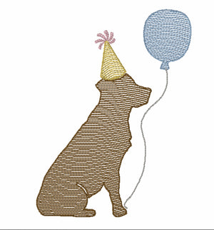 Embroidery Add On: Birthday Puppy