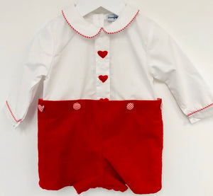 Reversible Button-On Hearts Short Set