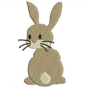 "Add On Embroidery: 3"" Brown Bunny"