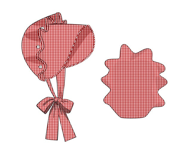 Bonnet: Red Gingham