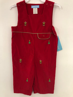 Red Cord Embroidered Reindeer Longall