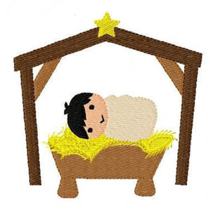 Embroidery Add On: Cute Manger Baby 2