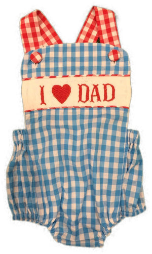 """I LOVE DAD"" UNISEX Sunsuit PREORDER"