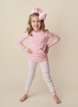 Pink Small Stripe Pajamas