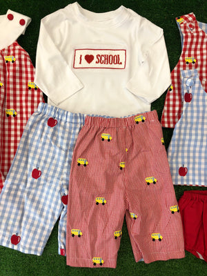 "BB Collection ""I Love School"" Smocked Tee"