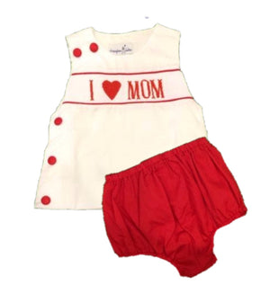 """I Love Mom"" BOY Diaper Set"