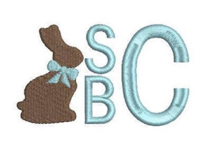 Embroidery Add On: Chocolate Bunny Monogram