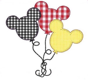 "Applique Add On: 4"" Mickey Balloons"