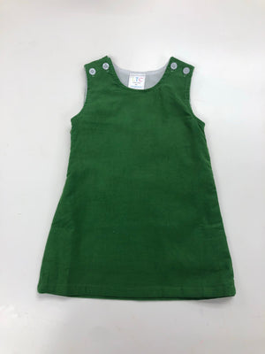 Green Corduroy A Line Dress